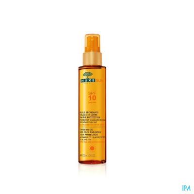 Nuxe Sun Bruiningsolie Gelaat-lich.ip10 P.fl 150ml
