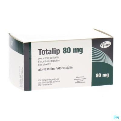 Totalip 80mg Pfizer Filmomh Tabl 100 X 80mg