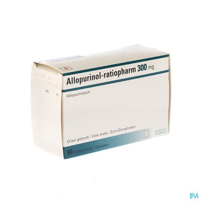 Allopurinol Ratiopharm Comp 90x300mg