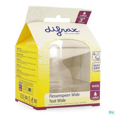 Difrax Flessenspeen Natural Wide Large 678