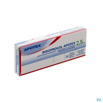 Bisoprolol Apotex 2,5mg Tabl 28