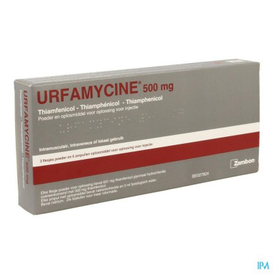 Urfamycine Fl Inj 3 X 500mg+solv 6