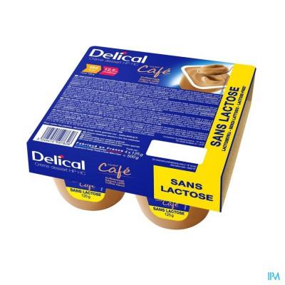 Delical Creme Dessert Hp-hc Z/lact.koffie 4x125g