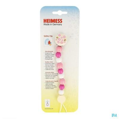 Heimess Fopspeenketting Hout Roze H9217