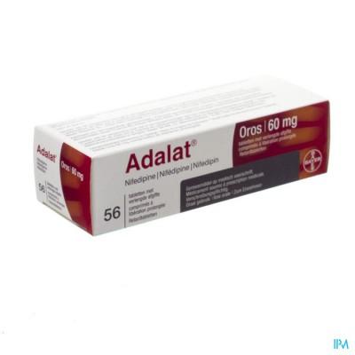 Adalat Oros 60mg Pi Pharma Comp 56 X 60mg Pip