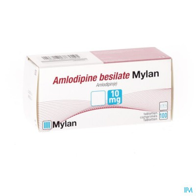 Amlodipine Besilate Mylan Comp 100 X 10mg