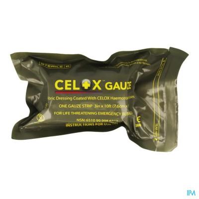 Celox Bloedstelpend Gaasverb. 7,6cmx3cm Covarmed
