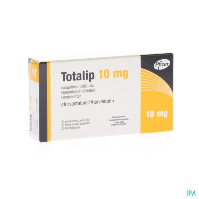 Totalip 10mg Pfizer Filmomh Tabl 30 X 10mg