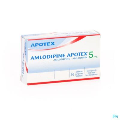 Amlodipine Apotex 5mg Tabl 56
