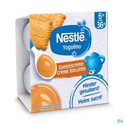 Nestle Yogolino Dessert Koekjescreme Pot 4x100g