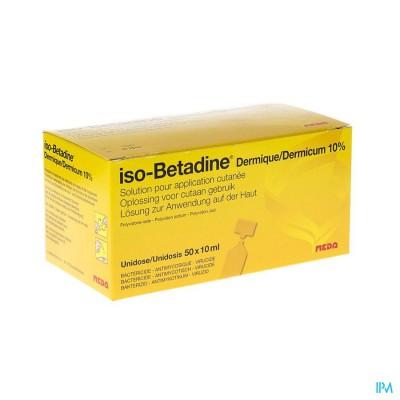 Iso Betadine Derm Unidose 50x10 ml