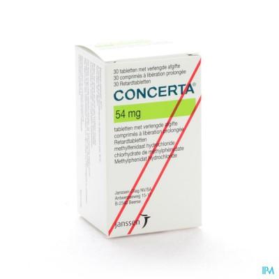 Concerta Tabl 30 X 54mg