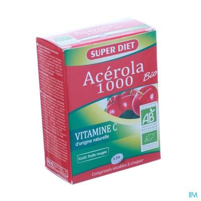 Super Diet Acerola Bio 1000 Comp 24