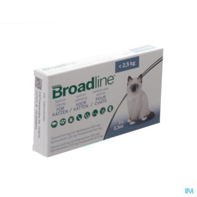 Broadline Spot-on Kat <2,5kg 3x0,3ml