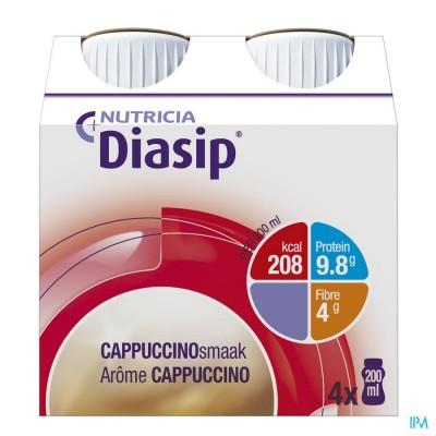 Diasip Cappuccino Fles 4x200ml