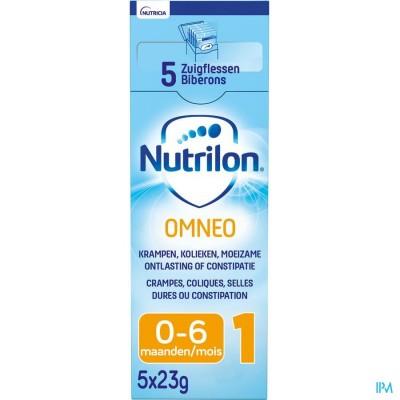 Nutrilon Omneo 1 Zuigelingenmelk constipatie en krampen 0-6 maanden poeder 5x23g