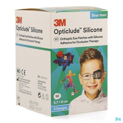 Opticlude 3m Silicone Eye Patch Boy Maxi 50