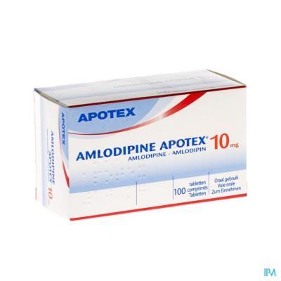 Amlodipine Apotex 10mg Tabl 100