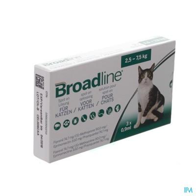 Broadline Spot-on Kat 2,5kg-7,5kg 3x0,9ml