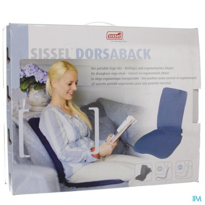 Sissel Dorsaback -pad Rugsteun+assise Grijs