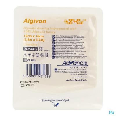 Algivon Alginaat Manuka Honing N/adh St. 10x10cm 1