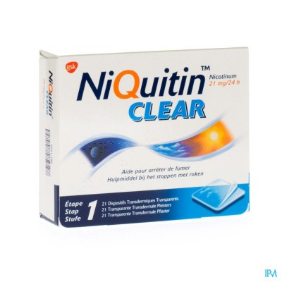 Niquitin Clear Patches 21 X 21mg
