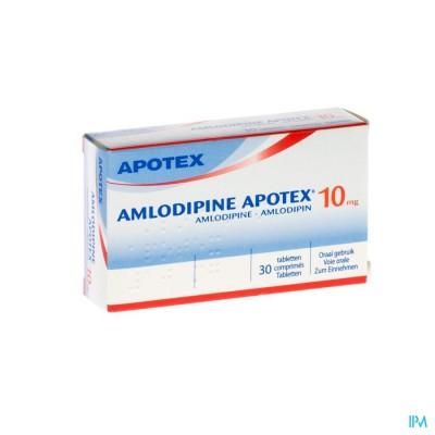 Amlodipine Apotex 10mg Tabl 30