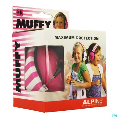 Alpine Muffy Koptelefoon Kids Roze/wit