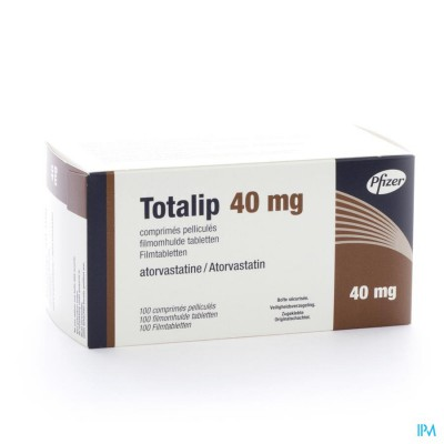 Totalip 40mg Pfizer Filmomh Tabl 100 X 40mg