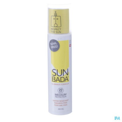 Sunbada Medium 20spf Fl 200ml