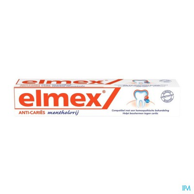 ELMEX® MENTHOLVRIJ TANDPASTA TUBE 75ML
