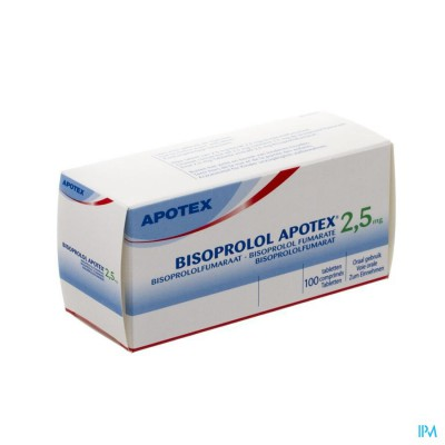 Bisoprolol Apotex 2,5mg Tabl 100