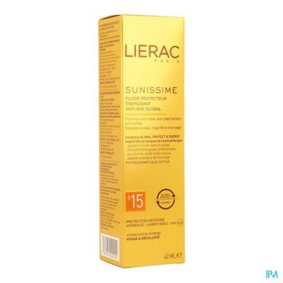 Lierac Sunissime Fluide Gelaat Ip15 Bescherm. 40ml