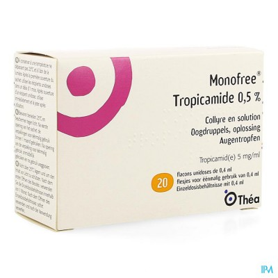 Monofree Tropicamide 0,5% 20x0,4ml