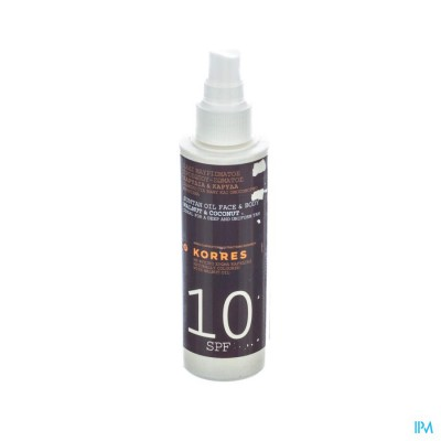 Korres Ks Suntan Oil Ip10 150ml
