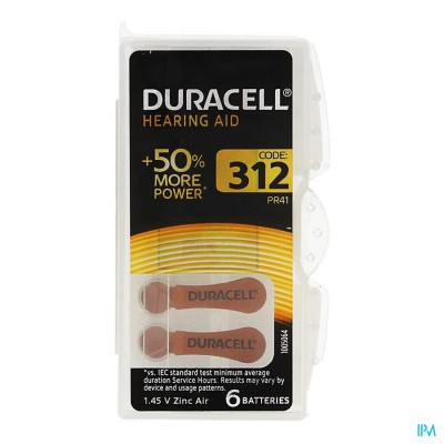 Duracell Easytab Hoorbatterij Da312 6 Bruin