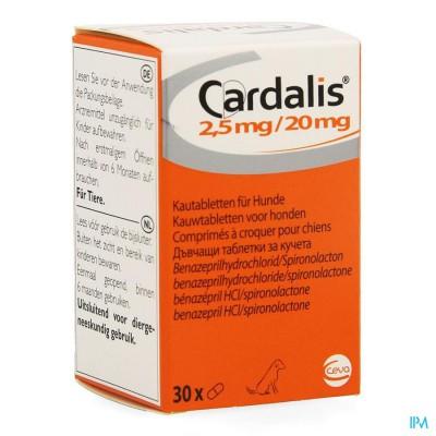 Cardalis 2,5mg/20mg Comp 30