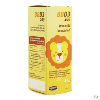 Bb D3 200 Ui Gutt 20ml Orthonat