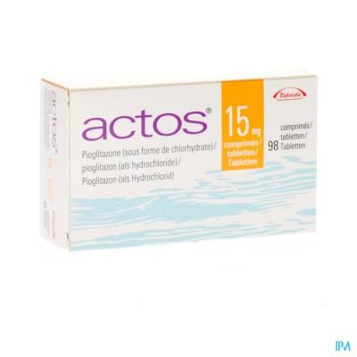 Actos 15mg Comp 98 X 15mg