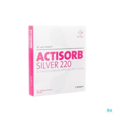 Actisorb Silver 220 Kp 10,5x10,5cm 10 Mas105de