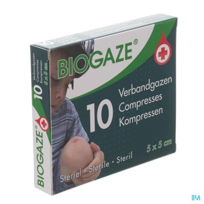 Biogaze 10 Verbandgazen 5 x 5 cm