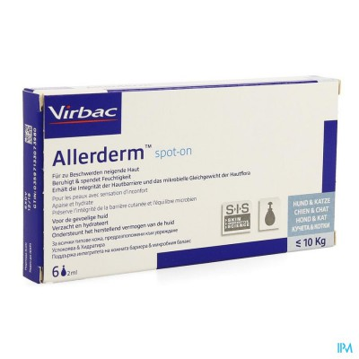 Allerderm Spot-on Pipet 6x2ml