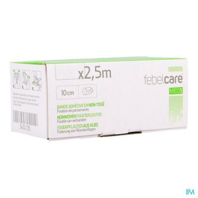 Febelcare Med5 Fixatiepleist. N/woven 10cm 2,5m 1