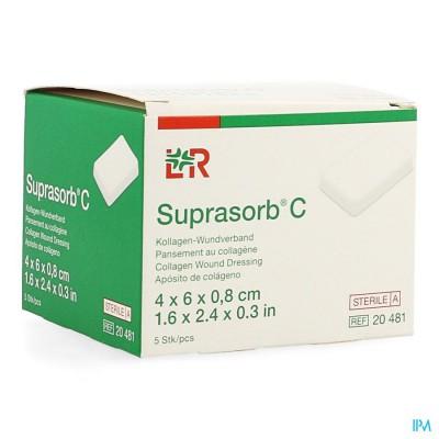 Suprasorb C Kp Steriel 4x 6x0,8cm 5 20481