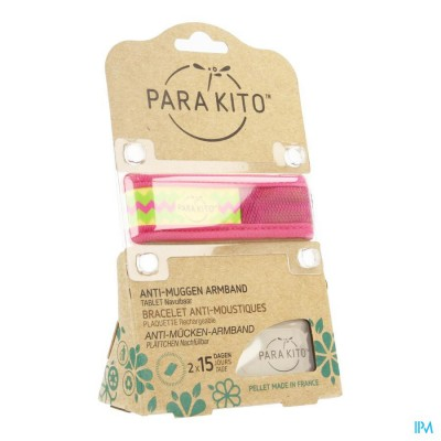 Para'kito Wristband Graffic Ethnic&geom Pink Inca