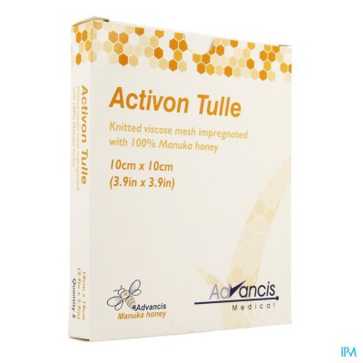 Activon Tulle Verband N/adh 10x10cm 5