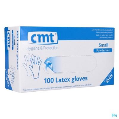 Cmt Handschoenen Latex Wit Pf S 100