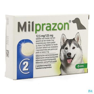 Milprazon 12,5mg/125mg Hond +5kg Comp 2