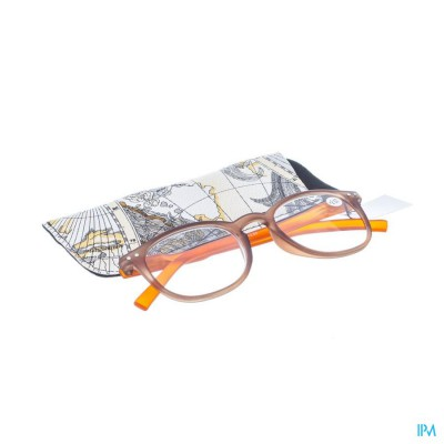 Pharmaglasses Leesbril Comp. +2.50 Brown/orange