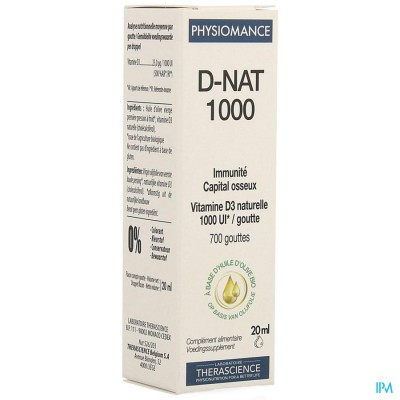D-nat 1000 Fl Gutt 20ml Physiomance Phy269